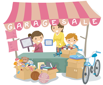 Moms teach kids lessons with garage sale