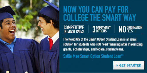 Now you can pay for college the smart way. Competitive interest rates, 3 repayment options, no origination fees